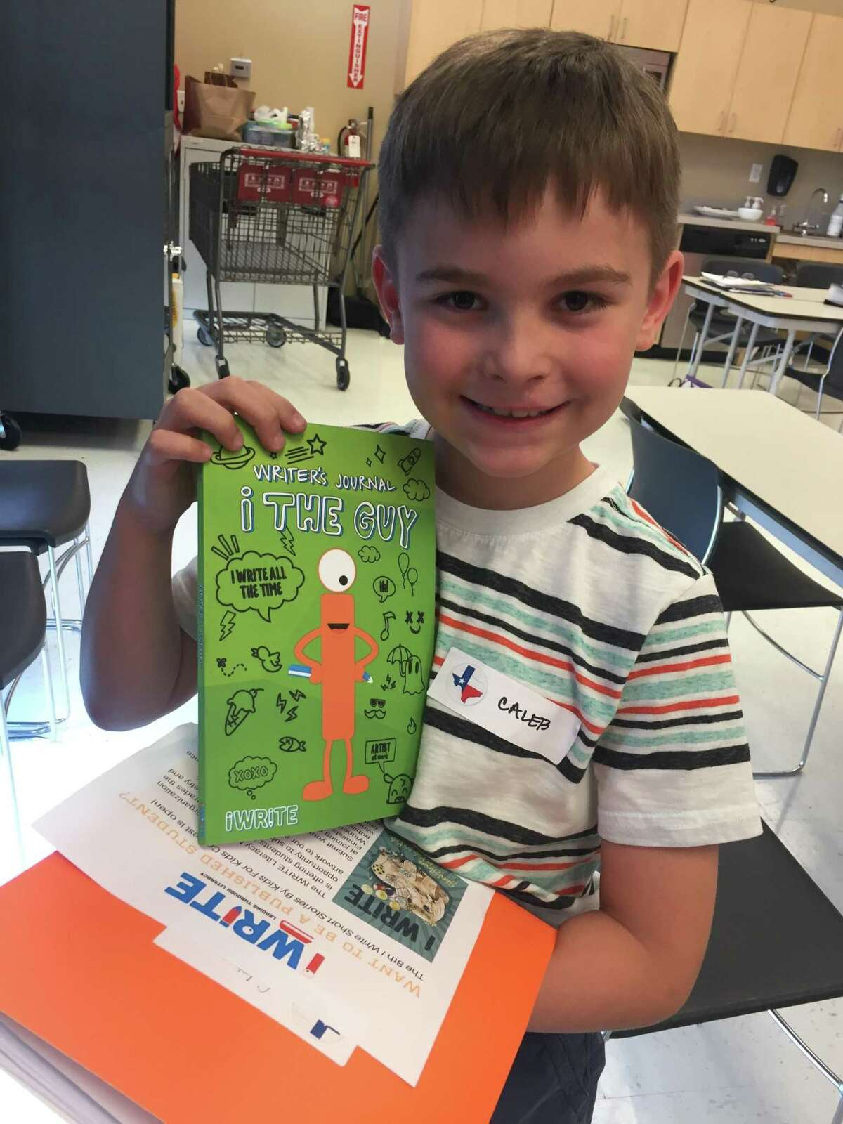 Caleb, a Katy Independent School District fourth grader at the (Robert and Felice) Bryant Elementary, is one of 78 student authors and illustrators to be honored at this years 9th Annual iWrite Luncheon & Book Signing Saturday, Oct. 27, at the Hyatt Regency in downtown Houston.