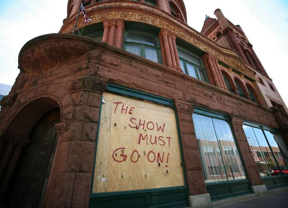 The Barnum Museum on Main Street in downtown Bridgeport suffered damage to exhibits after two large windows shattered on June 24th. Photo: Brian A. Pounds / Connecticut Post
