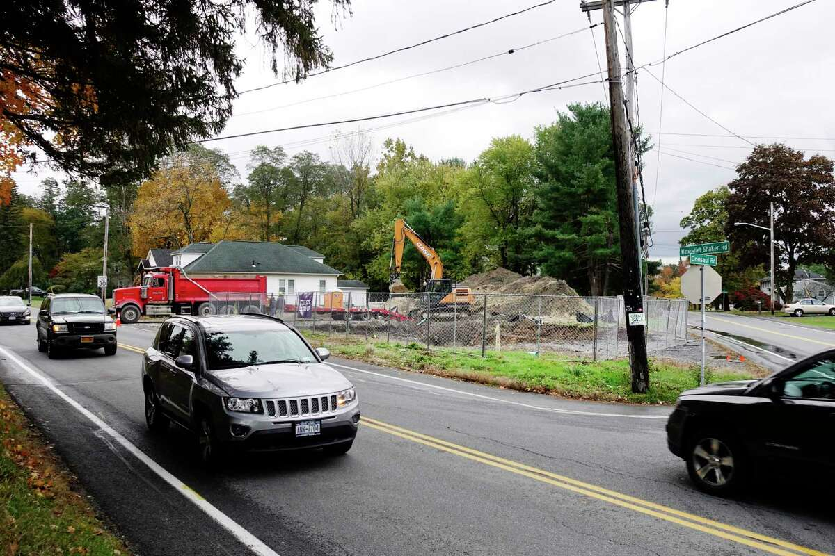 A view of the site of Blessings Tavern on Watervliet Shaker Road on Monday, Oct. 29, 2018, in Colonie, N.Y. The business, which was destroyed after a car crashed into it, is being rebuilt. (Paul Buckowski/Times Union)