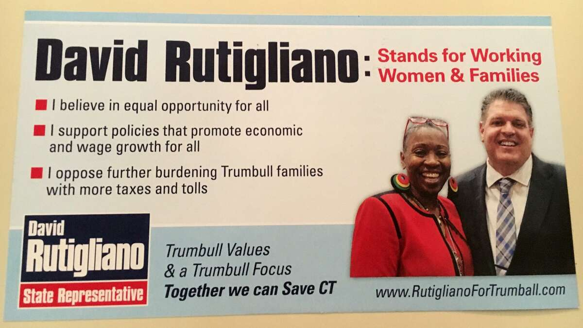 Republican House member David Rutigliano of Trumbull has recently sent a campaign mailer in which he is shown standing next to Democratic Rep. Robyn Porter of New Haven, who claims she was included in the mailer without her consent.