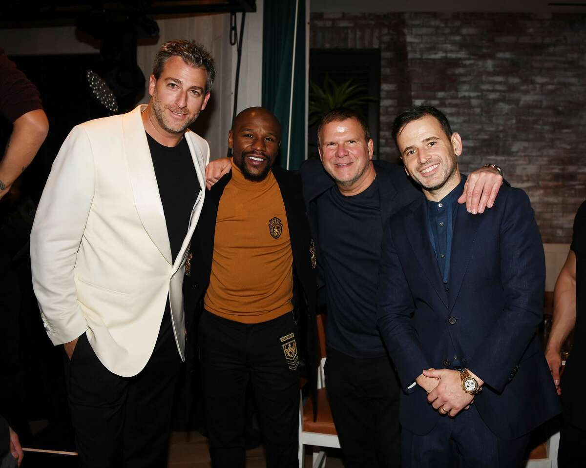Houston billionaire businessman Tilman Fertitta partied with the celebs in Sin City over the weekend. LAS VEGAS, NV - OCTOBER 26: Mark Birnbaum, Floyd Mayweather, Tilman Fertitta and Eugene Remm attend CATCH Las Vegas opening weekend dinner at ARIA Resort & Casino on October 26, 2018 in Las Vegas, Nevada. (Photo by Denise Truscello/Getty Images for CATCH Las Vegas) >>> Scroll through to see celebrity sightings and ghoulishly-good costumes at the Sin City party.