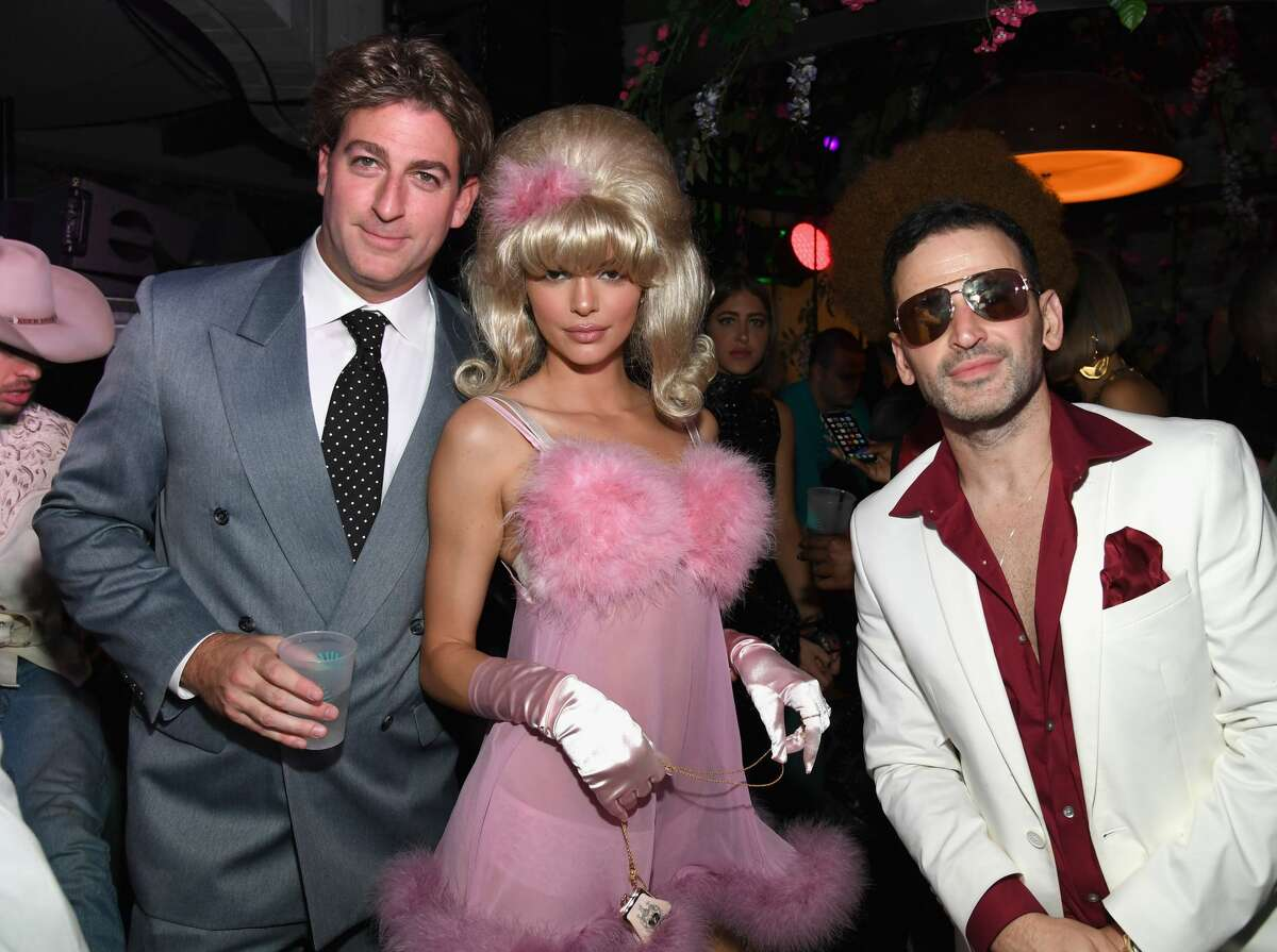 Celebrities are going all out with their Halloween costumes. Mark Birnbaum, Kendall Jenner and Eugene Remm attend Casamigos Halloween party at CATCH Las Vegas at ARIA Resort & Casino. (Photo by Kevin Mazur/Getty Images for Casamigos) >>> Click through to see what your favorite celebs dressed as for Halloween this year.