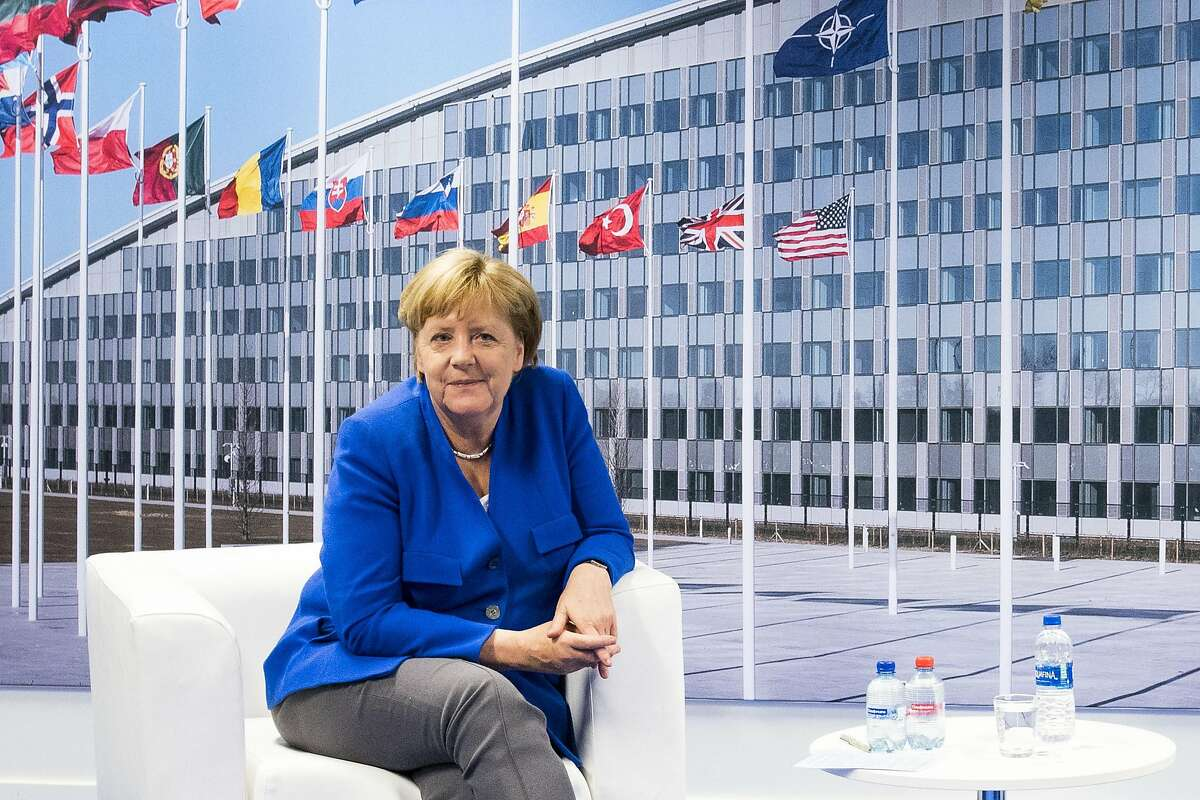 FILE -- German Chancellor Angela Merkel during a meeting with President Donald Trump at the NATO headquarters in Brussels, Belgium, July 11, 2018. Merkel on Monday, Oct. 29, 2018, took her first concrete steps to move away from political life, saying she would give up leadership of her conservative party while vowing to finish out her term in 2021. (Doug Mills/The New York Times)