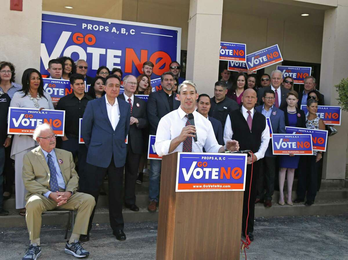"""San Antonio Charter Amendments The """"Vote Yes"""" campaign claims the propositions would give more power to the citizens and limit """"excessive"""" city spending. Those opposed, including many city officials, argue A, B and C would lead to higher taxes and would give more power to special-interest groups."""
