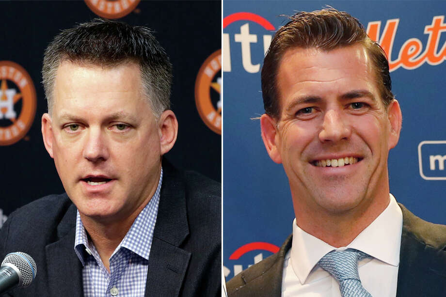 The close friendship between A.J. Hinch (left) and Brodie Van Wagenen goes back to their time as Stanford baseball teammates in the early 1990s. Photo: Houston Chronicle File And Wire Services