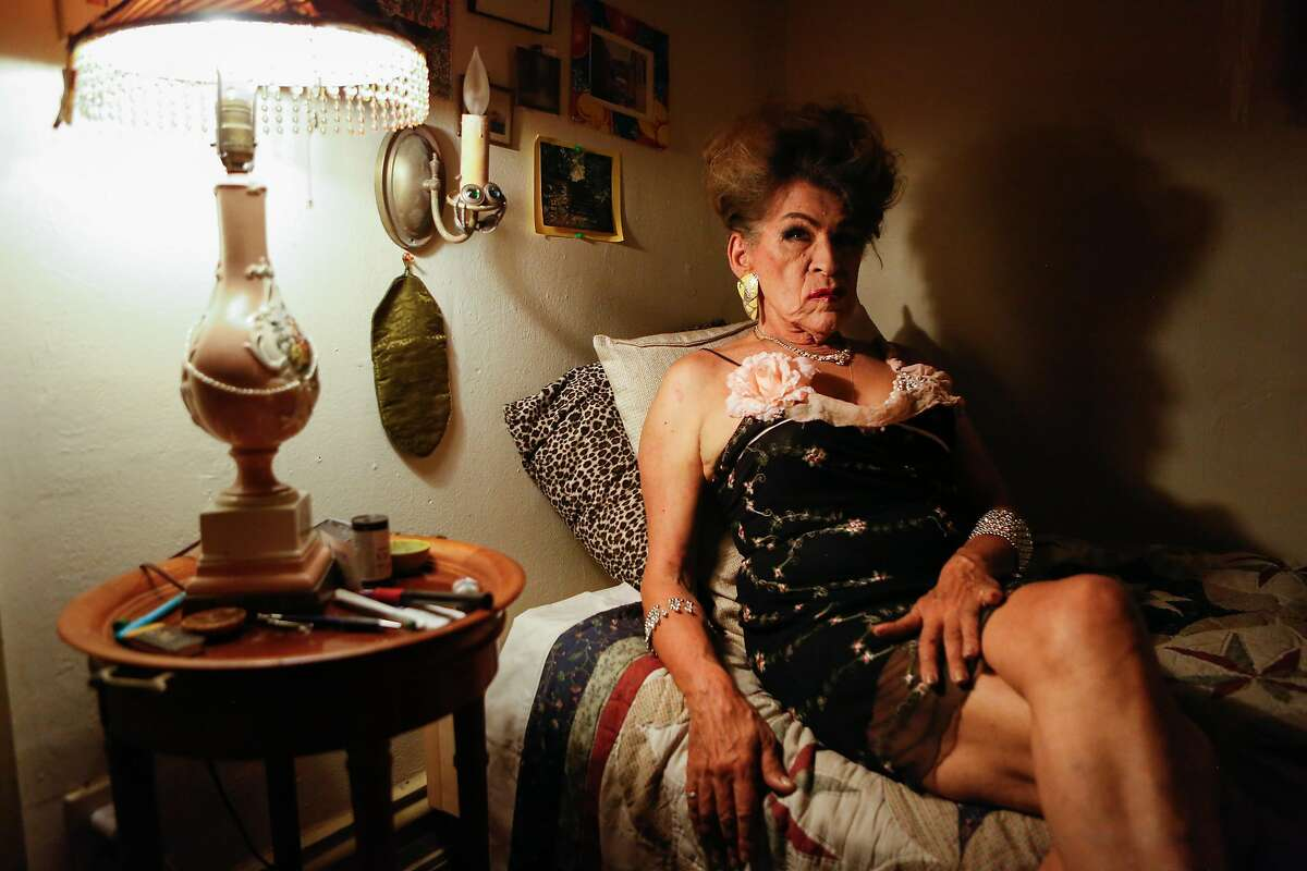 Donna Personna, 72, a trans woman who wrote and produced a play about San Francisco's Compton's Cafeteria riots of 1966, in her home on Friday, October 26, 2018 in San Francisco, Calif.