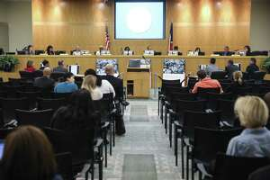 The Houston ISD Board of Education meets Monday, April 30, 2018 in Houston. The board did not vote to send a plan to the Texas Education Agency by the Monday deadline, which could have prevented the state takeover or closure of 10 long struggling schools. (Michael Ciaglo / Houston Chronicle)