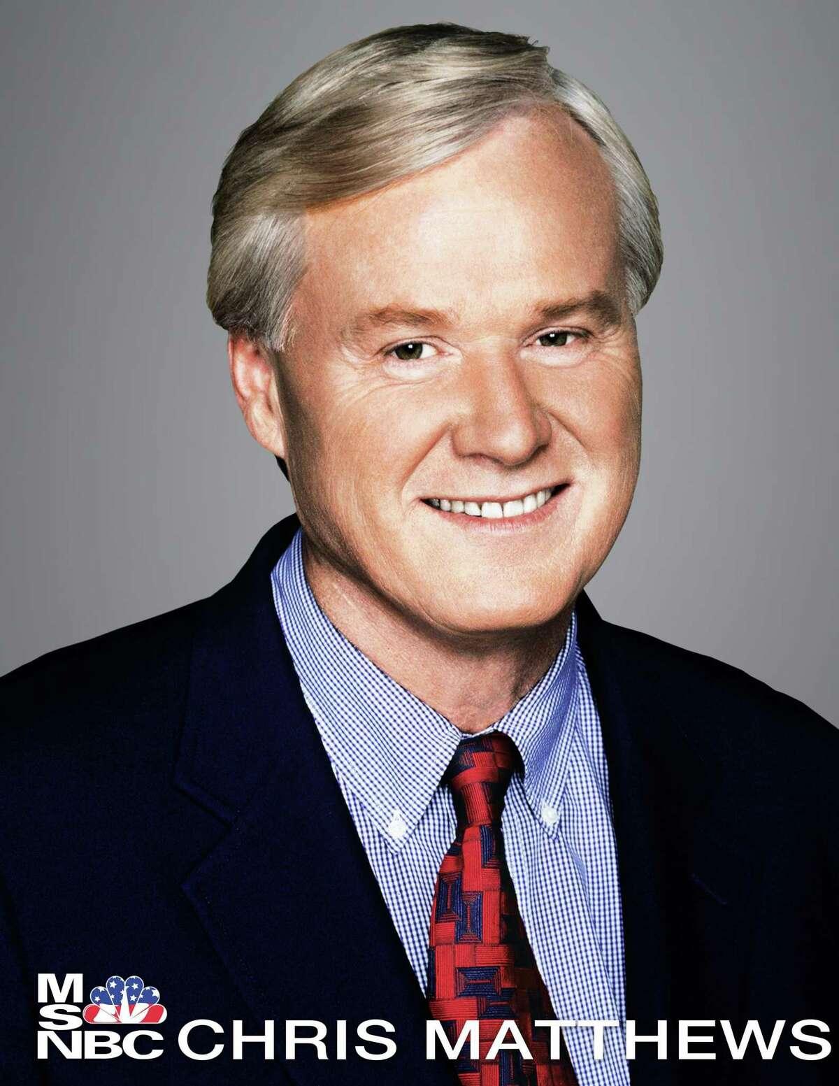 "Chris Matthews, host of ""Hardball"" on MSNBC"