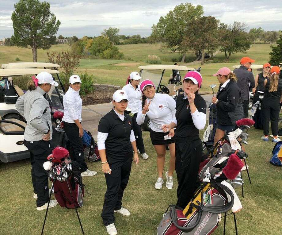 The Texas A&M International women's golf sits in fifth place after the opening round of the CSUSM Fall Classic. The Dustdevils shot a team total of 310 Monday. Photo: Courtesy Of TAMIU Athletics