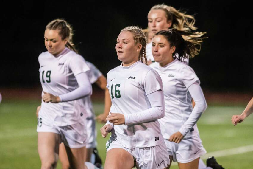 Shenendehowa faced off against Bethelhem during the Class AA girls soccer finals at Stillwater High School Monday, October 29th, 2018 in Stillwater, NY. Photo by Eric Jenks, for the Times Union