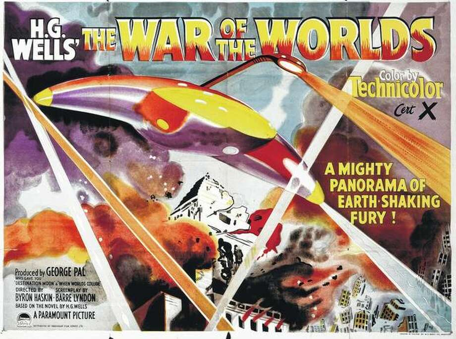 """A poster for Byron Haskin's 1953 science fiction film """"The War of the Worlds"""" drew people to the theaters, but years before that, a Halloween radio broadcast resulted in widespread panic. Photo: Movie Poster Image Art 