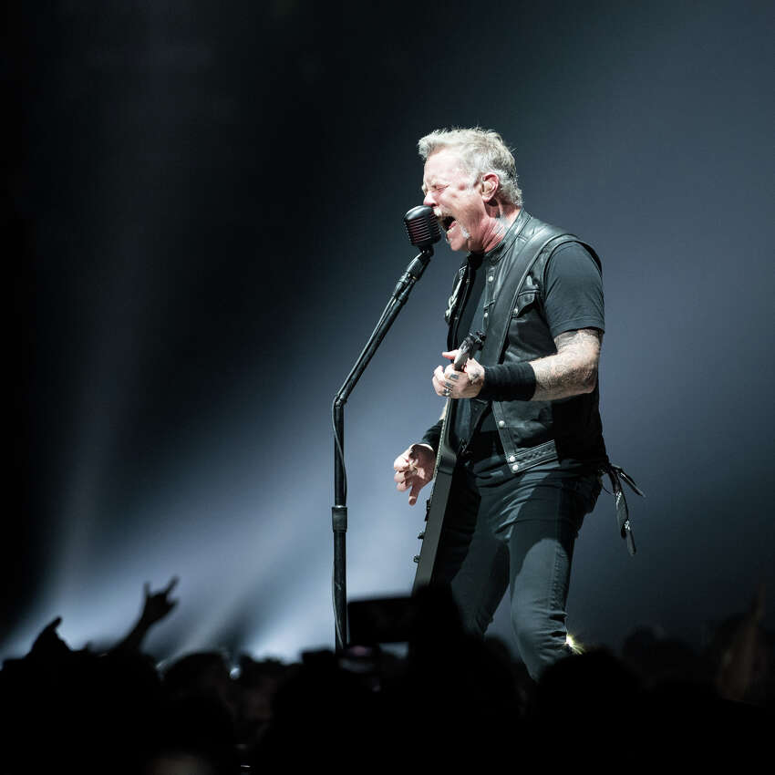 James Hetfield of Metallica performs Monday, October 29, 2018, at the Times Union Center in Albany as part of the band's WorldWired Tour.