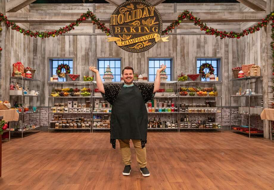Contestant Nolan Schooley poses for a photo, as seen on Holiday Baking Championship, Season 5. Photo: Food Network