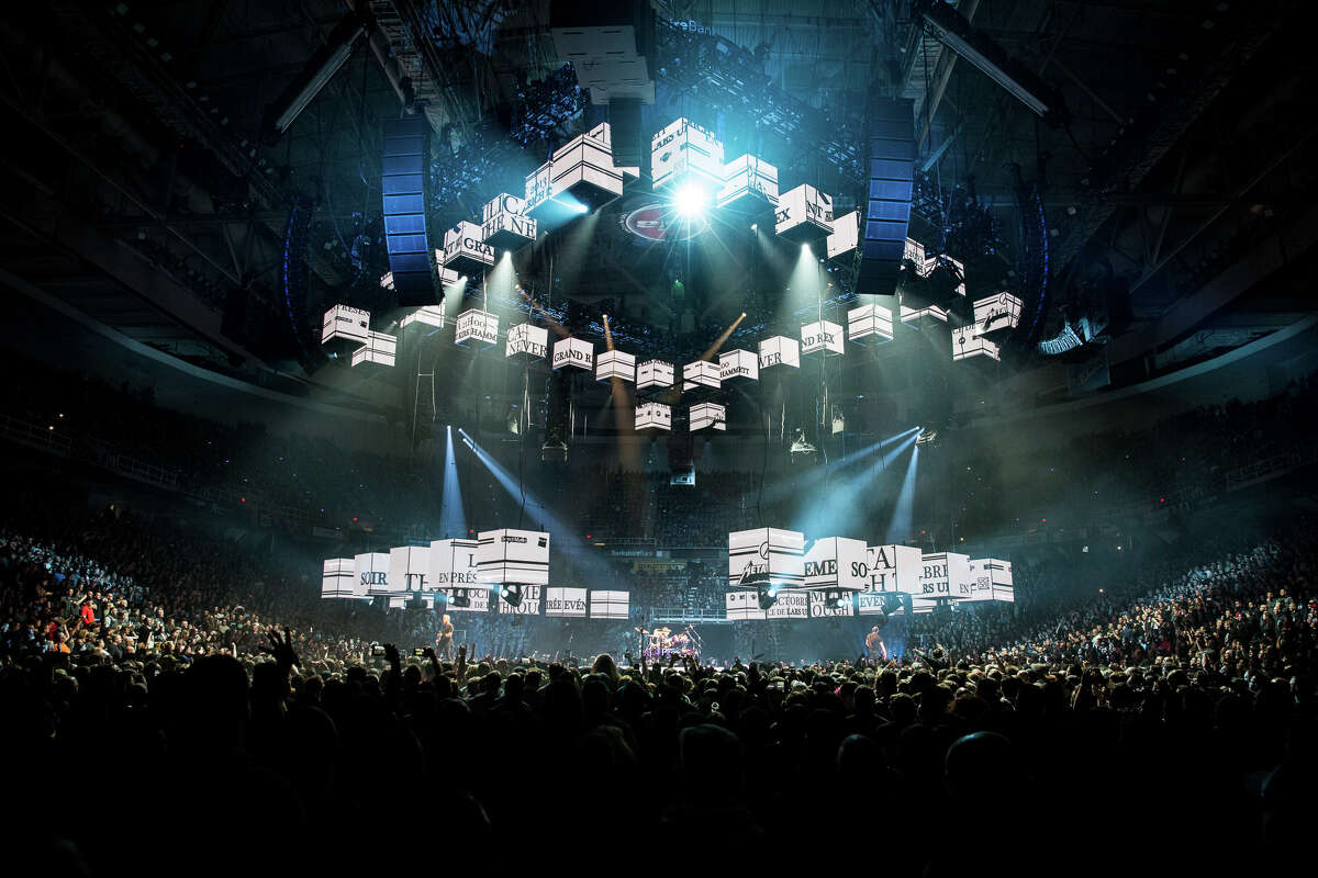 Metallica performs Monday, Oct. 29, 2018, at the Times Union Center in Albany as part of the band's WorldWired Tour.