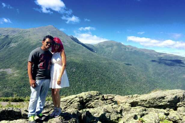 """Vishnu Viswanath, 29, and his wife, Meenakshi Moorthy, 30, loved """"daredevilry"""" in the great outdoors. The Indian couple were killed last week in an 800-foot fall from Yosemite's Taft Point overlook."""