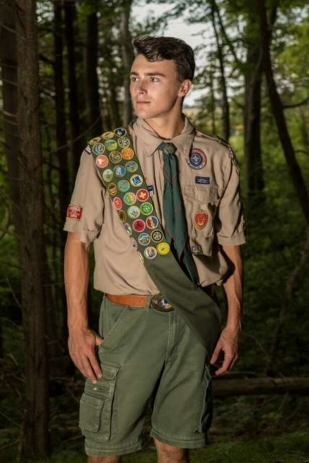 """Christopher """"CJ"""" Sokol of Boy Scout Troop 27 has achieved the rank of Eagle Scout. Photo: Jennifer Schulten Photo"""