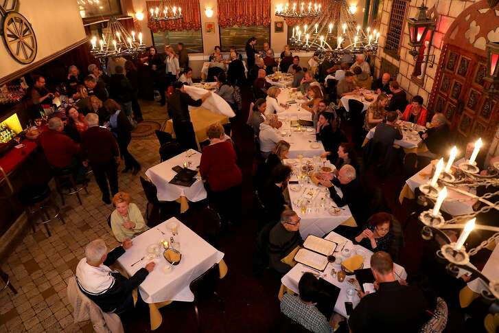 Folks dine and have drinks at Gold Mirror in San Francisco, Calif., on Saturday, October 20, 2018. The Italian restaurant, located at 800 Taraval St., will soon celebrate its 50th anniversary.