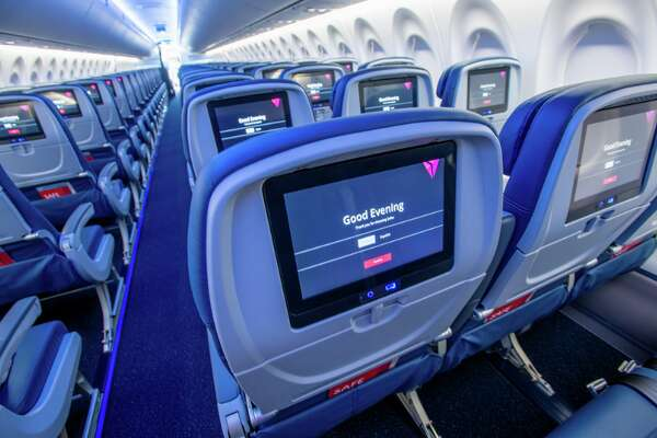Delta's newest jet: The Airbus A220 has 109 seats configured 2-3 in economy, bigger windows and oversize luggage bins