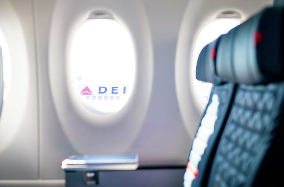 Delta's newest jet: The Airbus A220 has 109 seats configured 2-3 in economy, bigger windows and oversize luggage bins Photo: Delta Air Lines