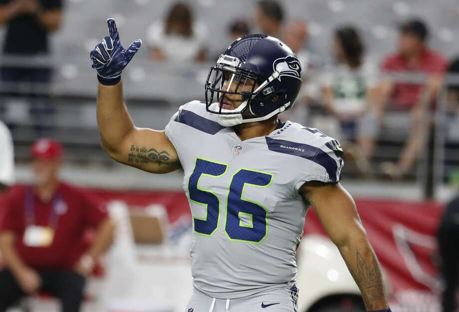 Seattle Seahawks linebacker Mychal Kendricks (56) during an NFL football game against the Arizona Cardinals, Sunday, Sept. 30, 2018, in Glendale, Ariz. (AP Photo/Rick Scuteri) Photo: Rick Scuteri/Associated Press