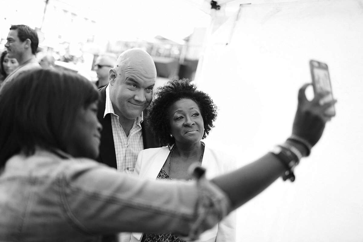 NEW YORK, NY - MAY 17: Guy Branum and Wanda Sykes attend the Turner Upfront 2017 arrivals on the red carpet at The Theater at Madison Square Garden on May 17, 2017 in New York City.