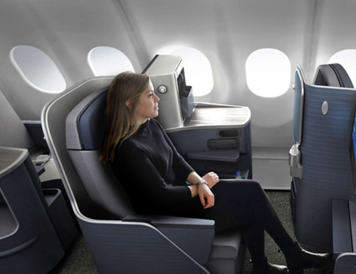 Business class on Brazilian carrier Azul, also founded by Neeleman.