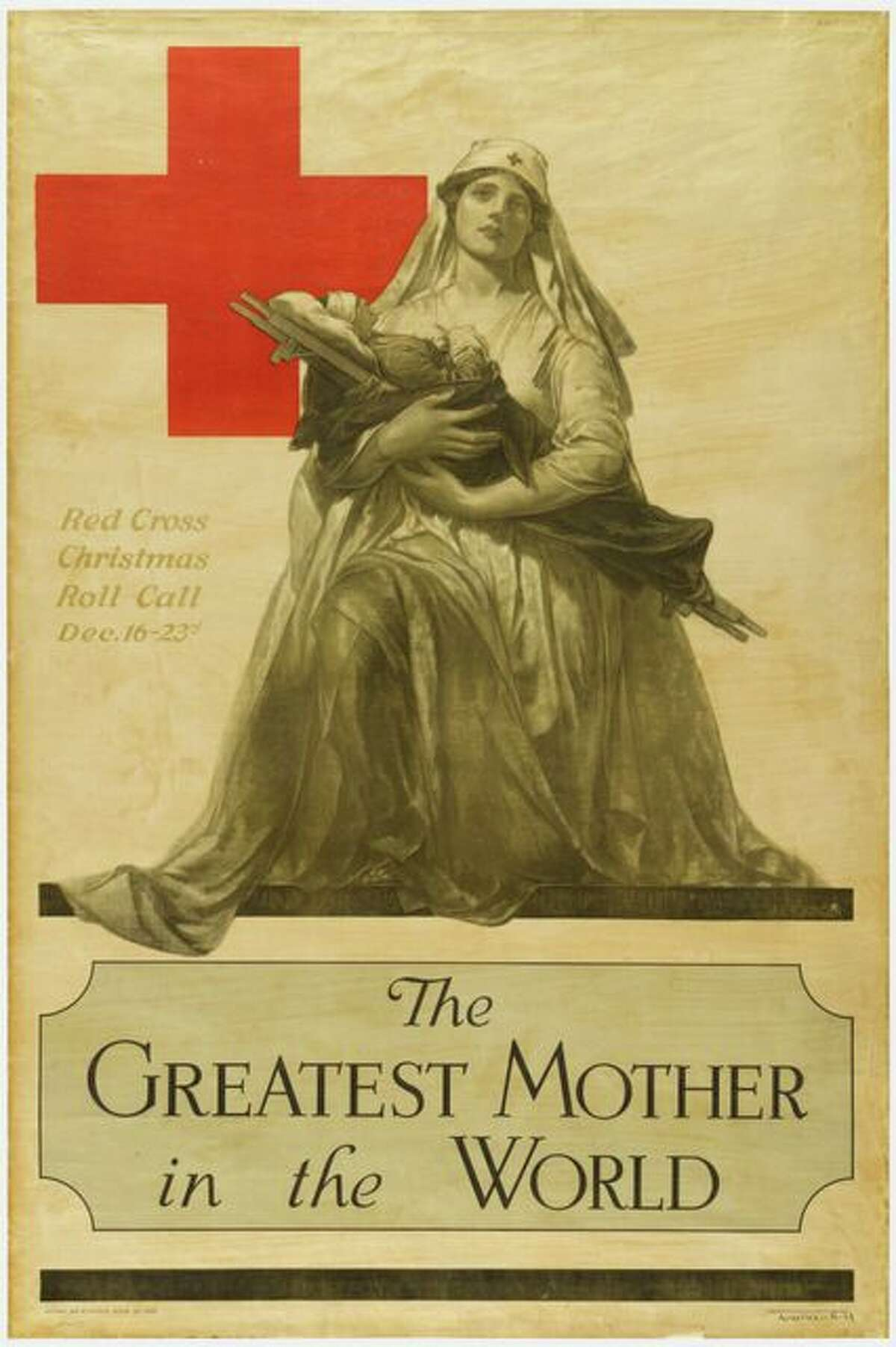Poster designed by A.E. Foringer for the Red Cross from 1918.