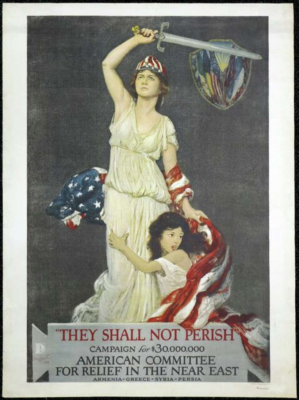 Poster designed by Douglas Vold from 1918 issued by the America Committee for Relief in the Near East.