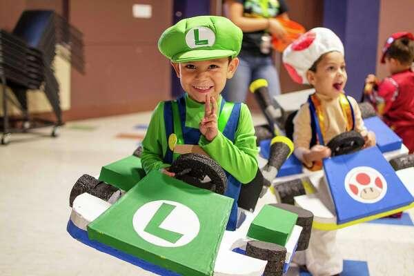 Midlanders dress up for Midland Parks & Recreation's Halloween Fest.