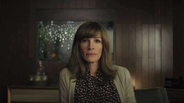 Julia Roberts as Heidi Bergman experiences some unnerving jolts in Amazon Prime's psychological thriller 'Homecoming,' her first stab at a lead role in a television series.