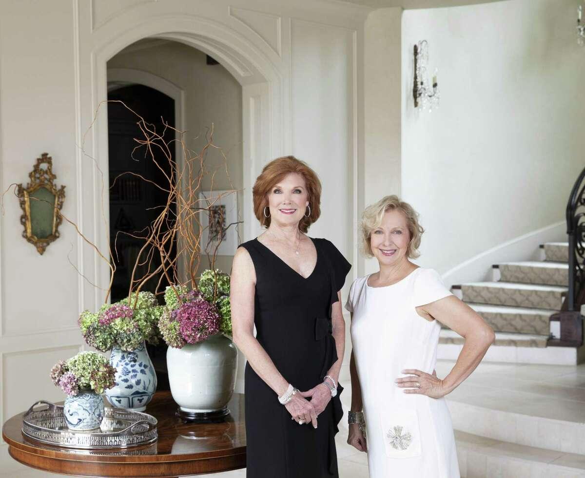 Martha White and interior designer Sarah Eilers of Lucas/Eilers Design Associates at White's Piney Point home.