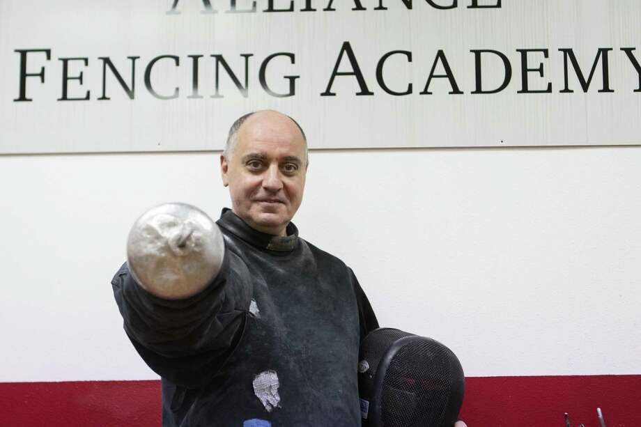 Andrey Geva is the head coach and managing director of Alliance Fencing Academy. Geva has been coaching fencing around 28 years and has taught several Olympic athletes. Photo: Cody Bahn, Houston Chronicle / Staff Photographer / © 2018 Houston Chronicle