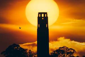 @jaiwalkinn Captured the sun behind Coit Tower.