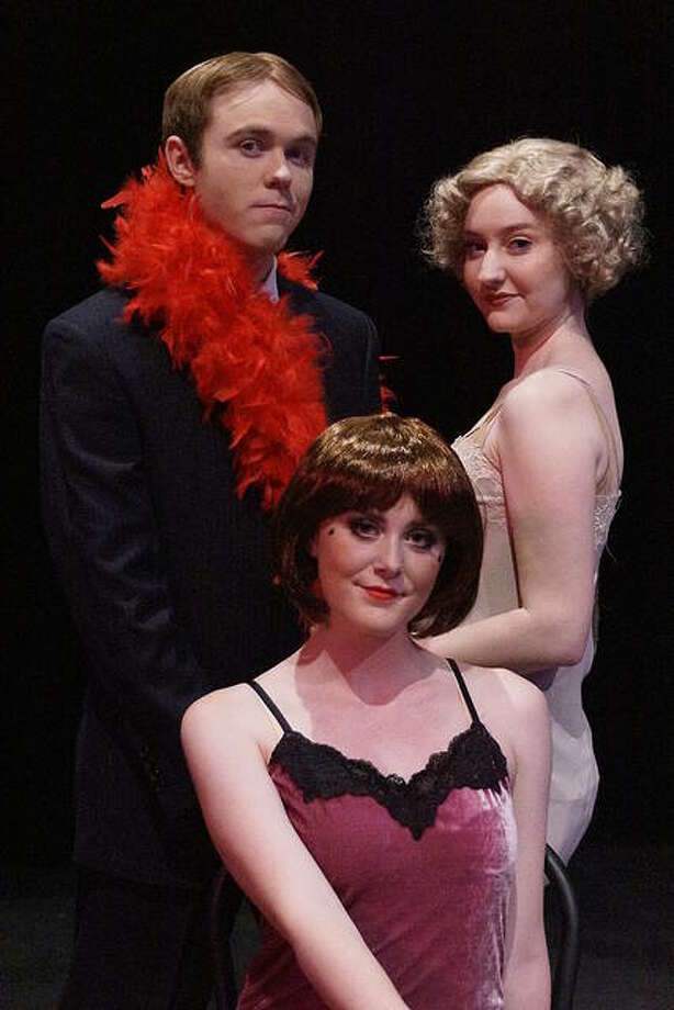 "Sydney Martin, front, Trey Ball, back left, and Zora Vredeveld star in Southern Illinois University Edwardsville's production of ""Chicago"" Nov. 7 through 11. Photo: Valerie Goldston 