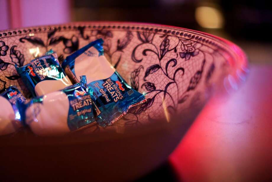 A bowl of Rice Krispies Treats at Dimples bar in Japantown. Photo: Scott Strazzante / The Chronicle