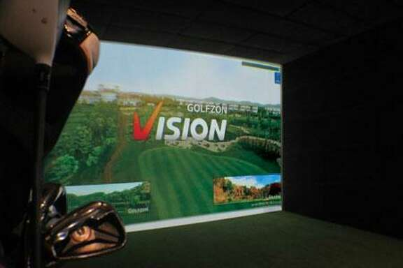 Swing Zone Golf in Tomball has six private bays with GOLFZON Vision simulators.