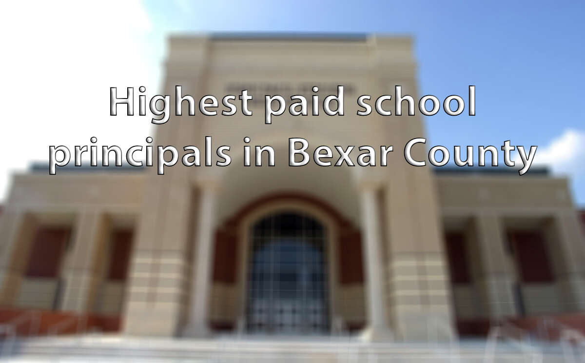 Click through the slideshow to see which Bexar County high school principals are paid the most.