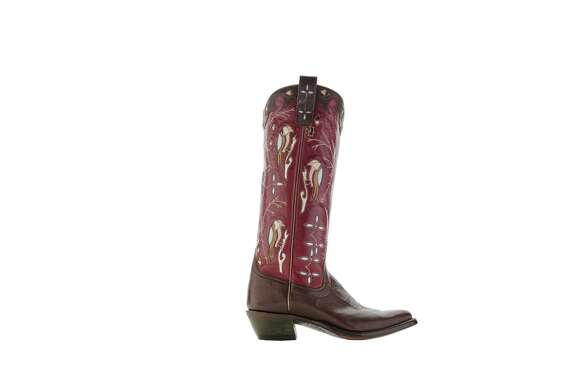 Miron Crosby Caroline boot; $2,750 at 29° North in the Post Oak Hotel