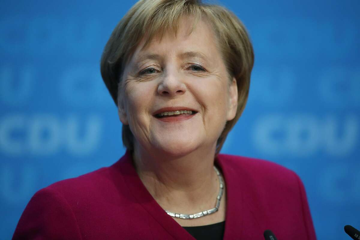 BERLIN, GERMANY - OCTOBER 29: German Chancellor and leader of the German Christian Democrats (CDU) Angela Merkel speaks at a press conference the day after elections in the state of Hesse on October 29, 2018 in Berlin, Germany. Merkel announced that she will not seek re-election neither as party chairwoman nor as chancellor, and that she will withdraw from political office once her terms end. The CDU came in first place in Hesse but at 27% a full 11 points less than in the last election. (Photo by Sean Gallup/Getty Images)