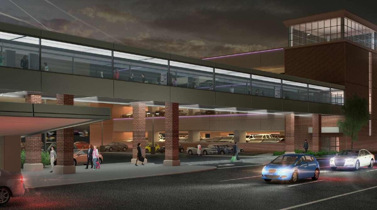 A new elevated pedestrian bridge is envisioned to adjoin to the facility's new 1,000-car parking garage.