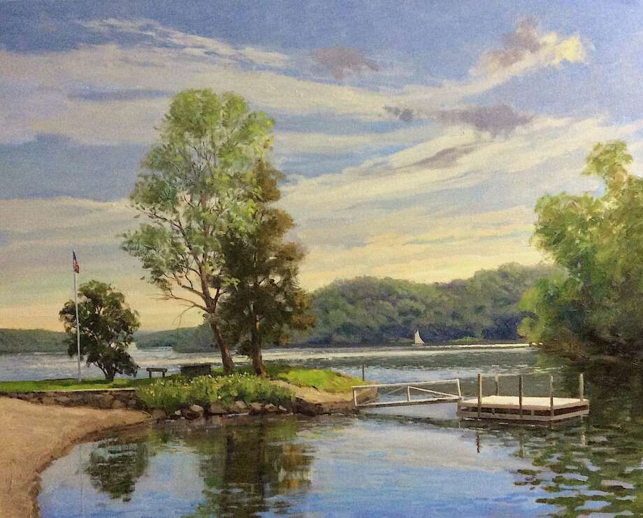 "The Gregory James Gallery on Route 202 in New Milford will open an exhibit, ""From the Mountains to the Shore: The Transcendence of New England Moments,"" with a reception Oct. 27 from 5 to 7 p.m. The show, which will run through Dec. 31, will feature new oil paintings by Thomas Adkins of Southbury. Above is Adkins' ""Spring: Atchison Cove, Candlewood Lake."" Photo: Courtesy Of Gregory James Gallery / The News-Times Contributed"