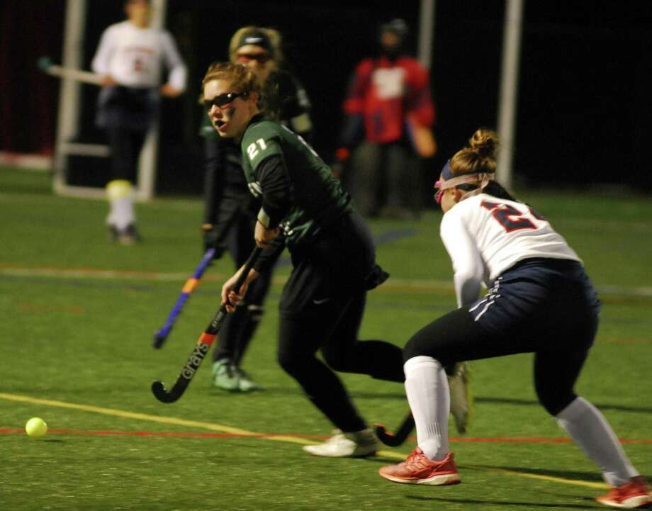 New Milford's Sophie Danish controls the ball during a game against New Fairfield on Thursday. Photo: Ryan Lacey /Hearst Connecticut Media