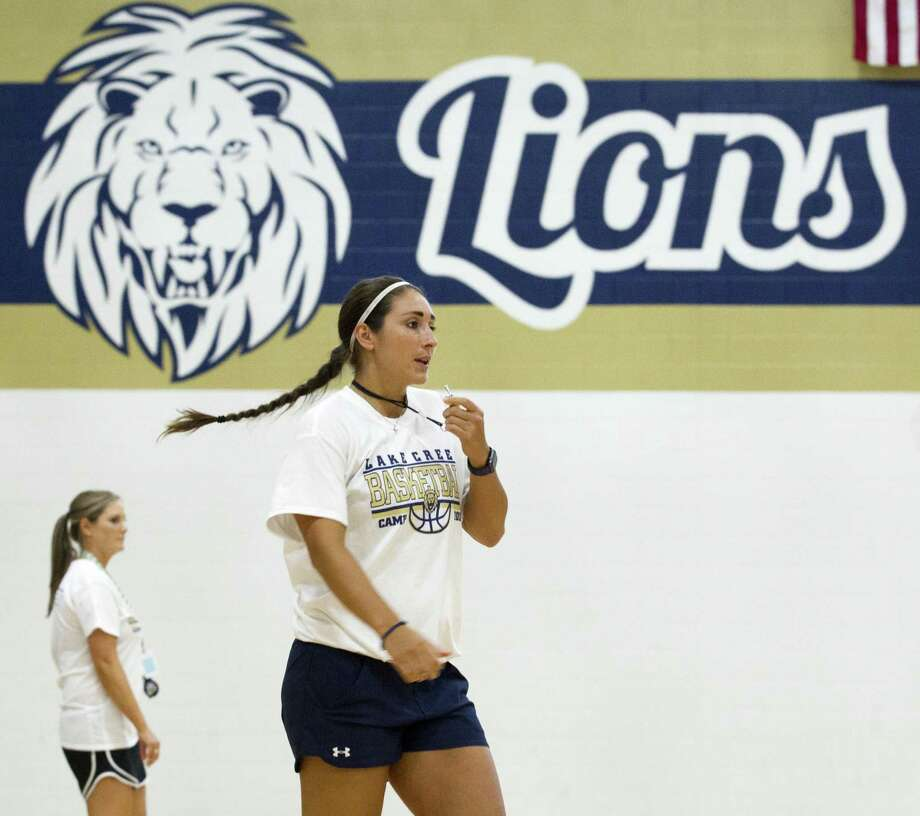Lake Creek head coach Britni Martin and the Lions make their varsity debut this Friday at New Waverly High School. Photo: Jason Fochtman, Staff Photographer / Houston Chronicle / © 2018 Houston Chronicle