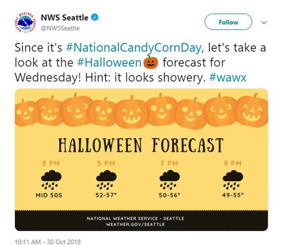 The forecast for Halloween is wet. Photo: Courtesy NWS