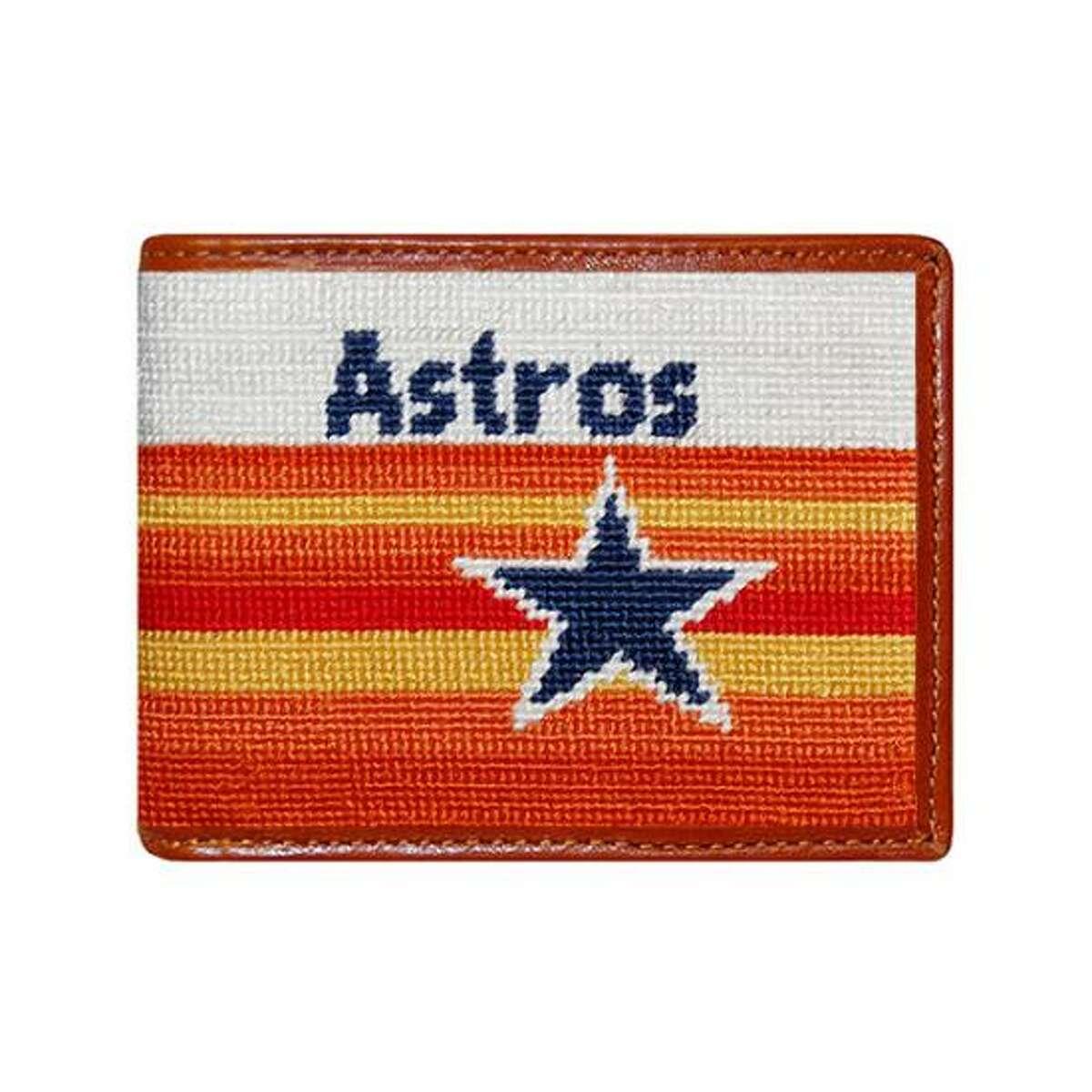 Astros bi-fold wallet; $115 at Paris Texas Apparel Co.
