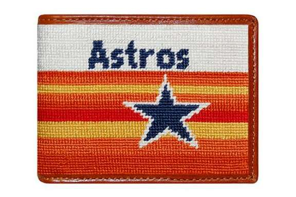 Astros bi-fold wallet; $115 at Paris Texas Apparel Co.