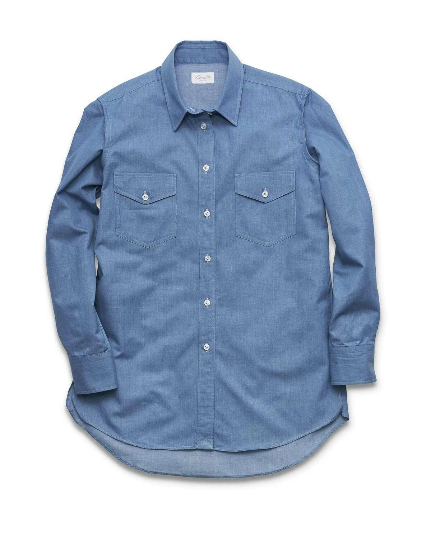 Women's denim Western shirt; $295 at Hamilton Shirts