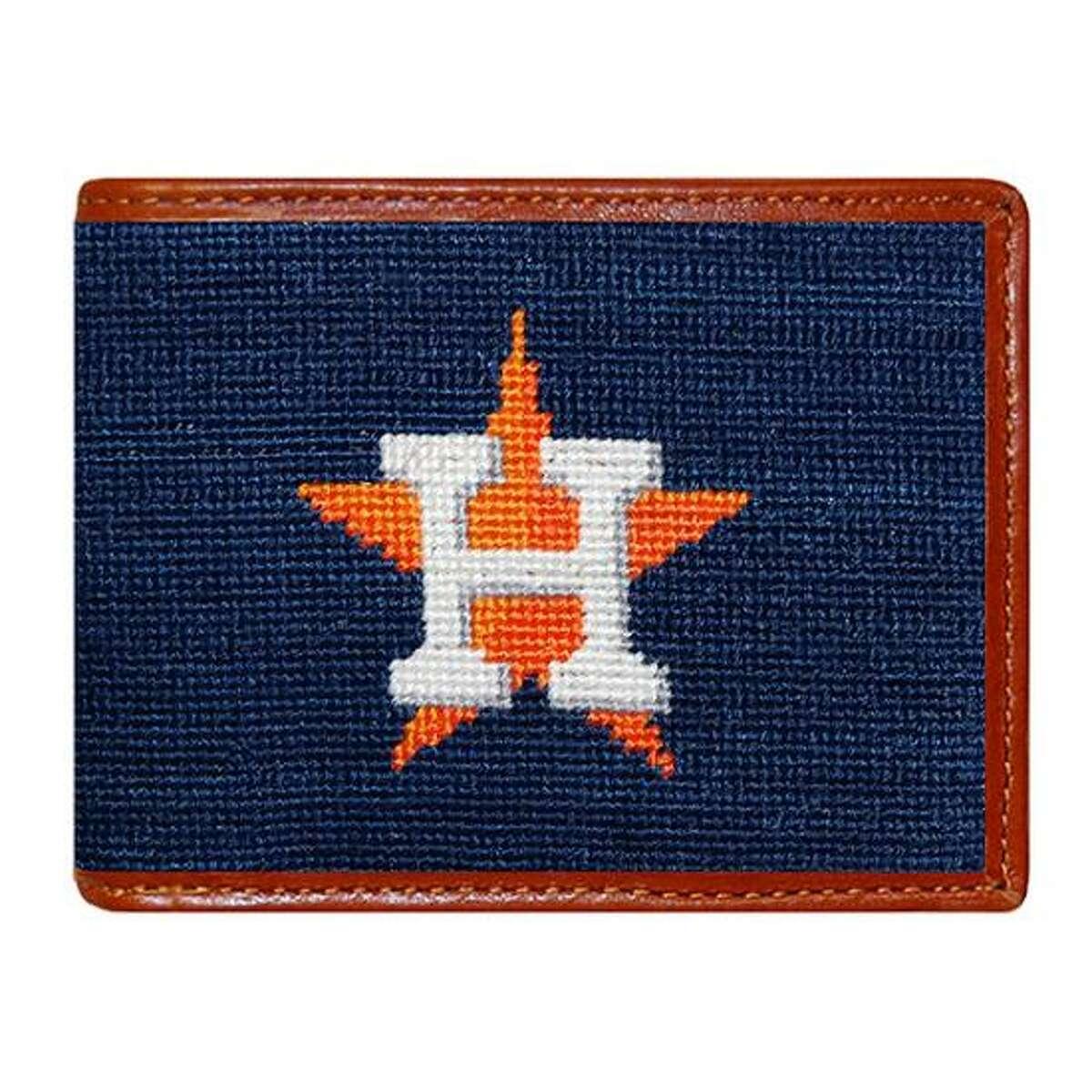 Houston Astros Needlepoint Bi-Fold Wallet; $115 at Paris Texas Apparel Co. or paristexasco.com