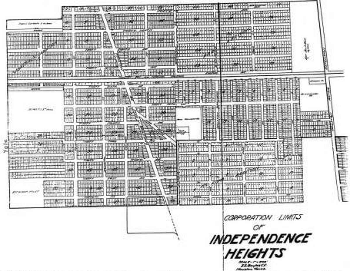 Map of corporation limits of Independence Heights.