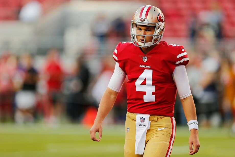 Backup 49ers quarterback Nick Mullens posted impressive preseason stats but has not taken a snap in the regular season. Photo: Santiago Mejia / The Chronicle